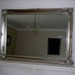 Antique Large Silver Wall Mirror