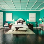 Black and Teal Bedroom