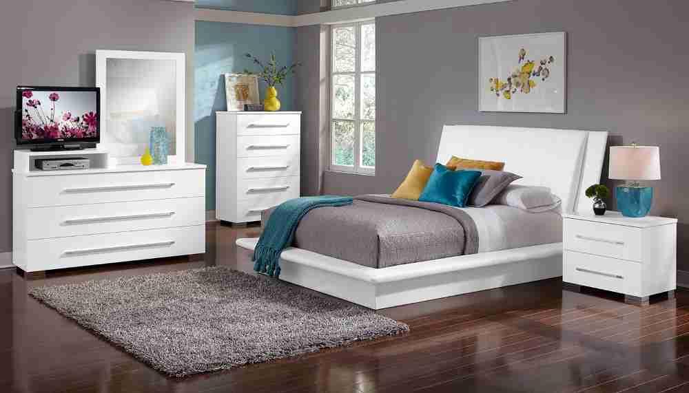 Dimora White Bedroom Set