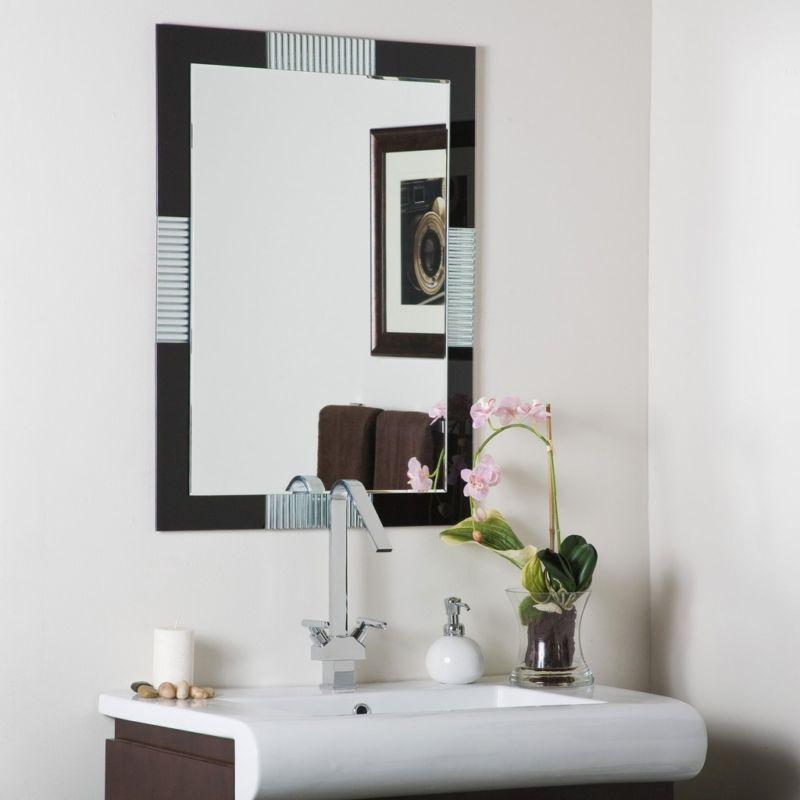 Frameless Bathroom Wall Mirror