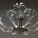 Glass Antler Chandelier