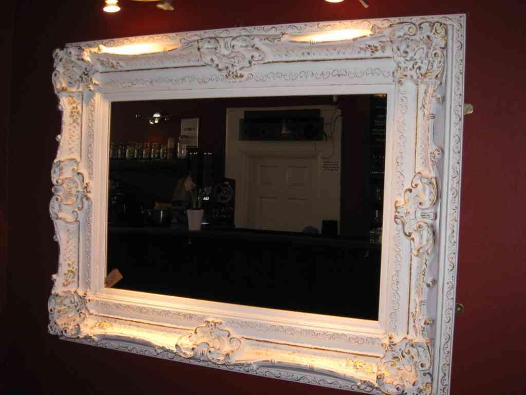 Large White Wall Mirror