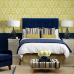 Navy and Yellow Bedroom Ideas