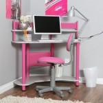 Pink Corner Desk