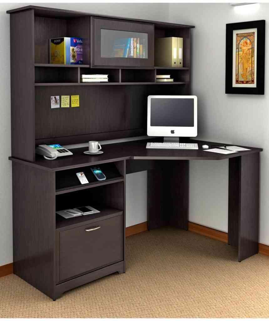 Small Corner Desk with Hutch