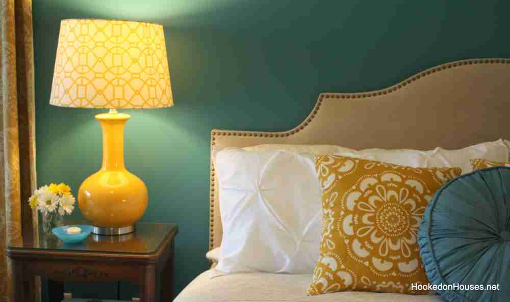 Teal and Yellow Bedroom