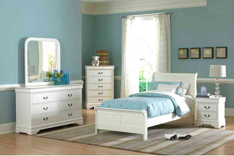 White Twin Bedroom Set