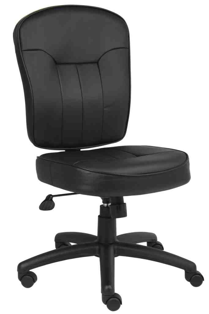 Armless Leather Office Chair