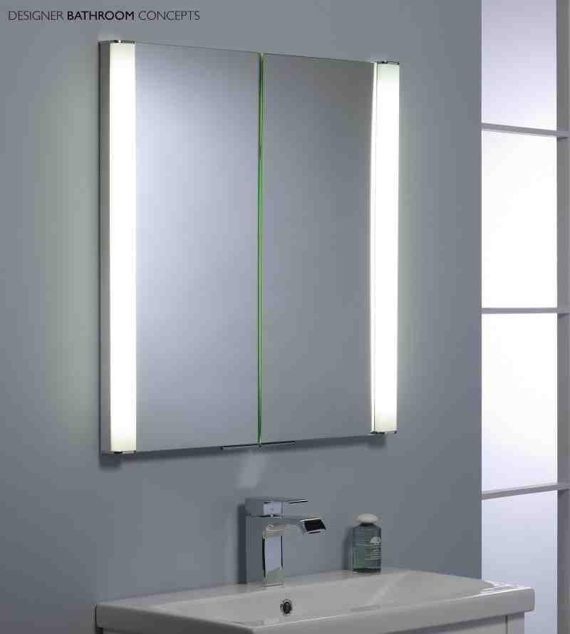 Battery Operated Bathroom Mirror