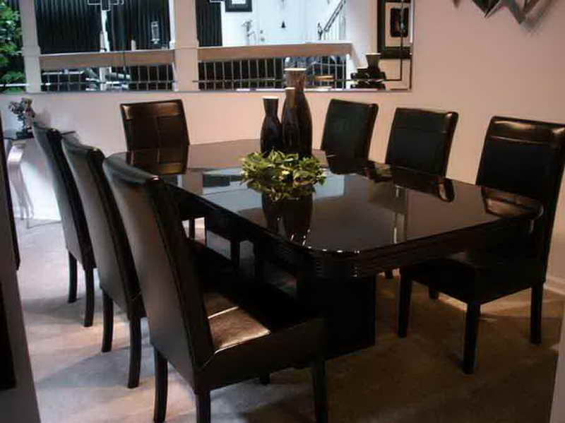 Black Leather Dining Room Chairs