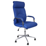 Blue Leather Office Chair