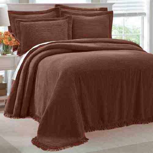 Brown Chenille Bedspread Decor Ideasdecor Ideas
