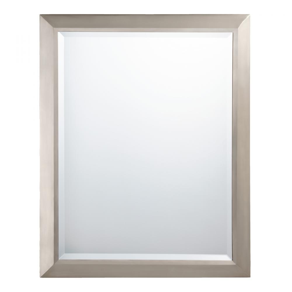 Brushed Nickel Framed Bathroom Mirror Decor Ideasdecor Ideas