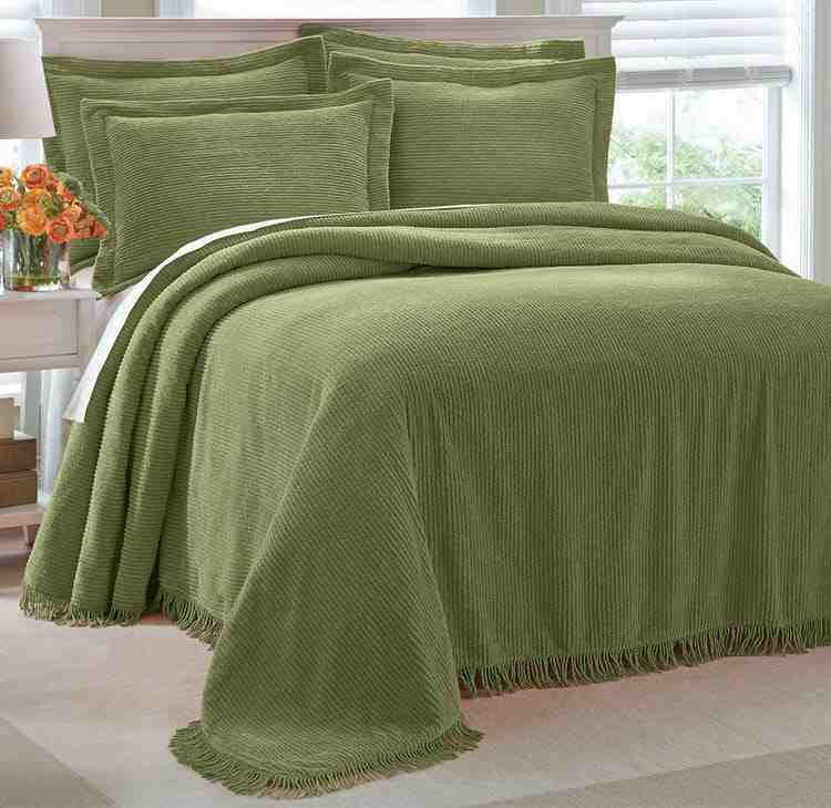 Chenille Bedspread Twin Size Decor Ideas
