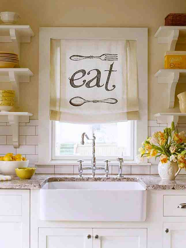 Easy Kitchen Window Treatments Pictures