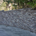 Faux Stone Retaining Wall