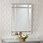 Frameless Beveled Bathroom Mirror