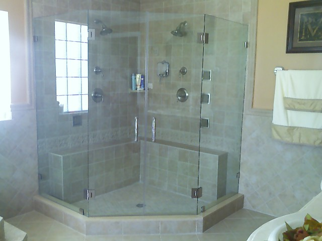 Frameless Corner Glass Shower Doors Decor Ideas