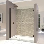 Frameless Hinged Glass Shower Door