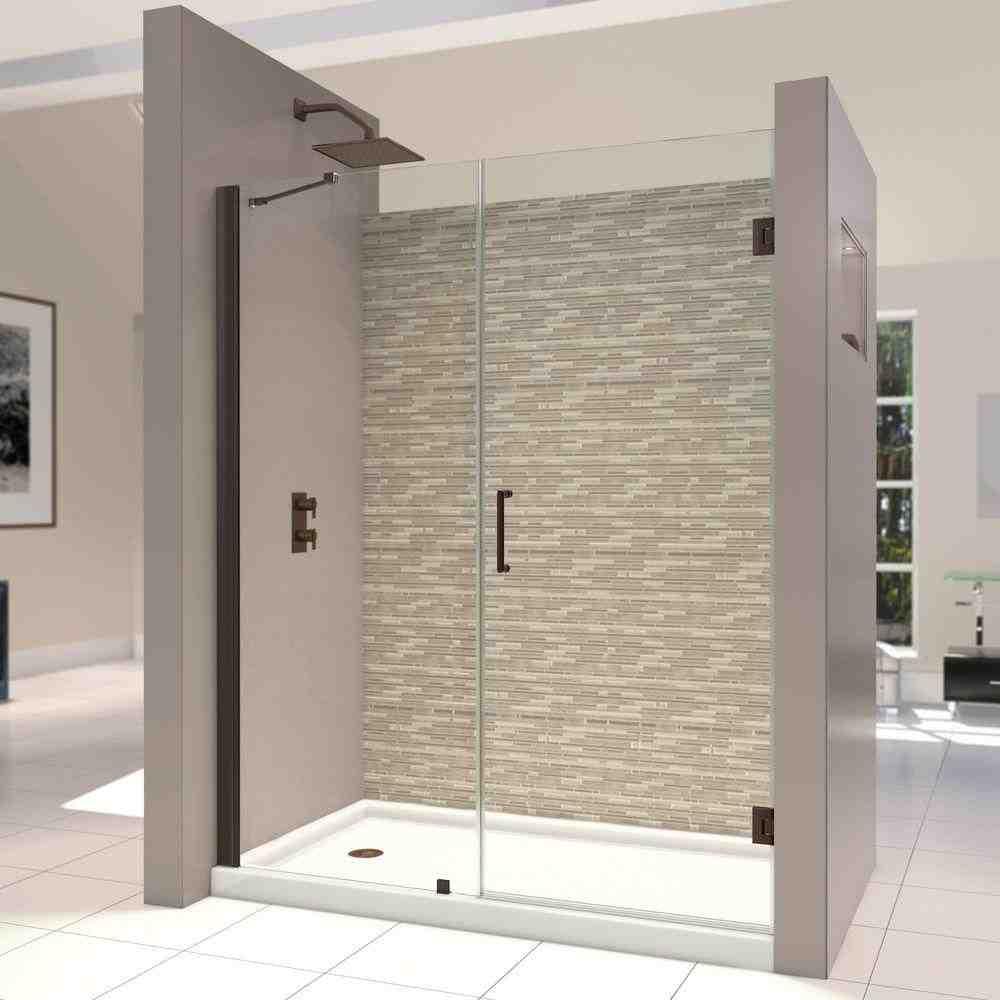 Frameless Hinged Glass Shower Door