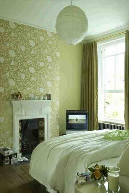 Green Bedroom Wallpaper