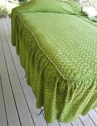 Green Chenille Bedspread
