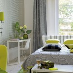Grey and Green Bedroom