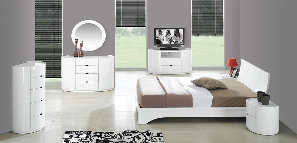 High Gloss White Bedroom Furniture