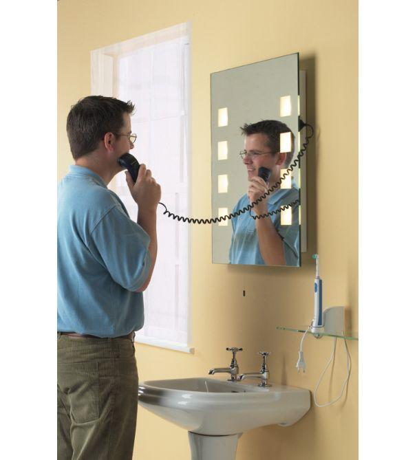Illuminated Bathroom Mirror with Shaver Socket