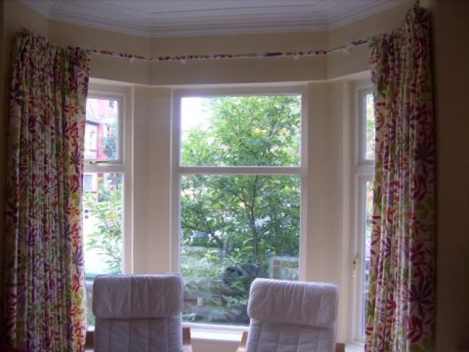 Kitchen Bay Window Curtains