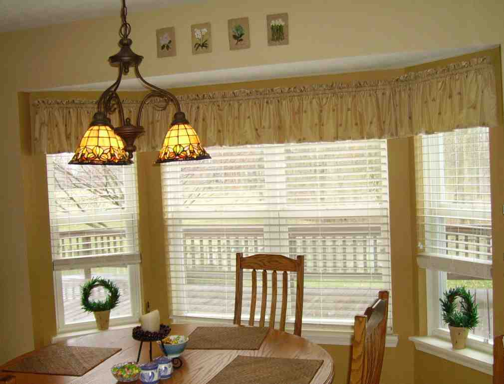 Kitchen Bay Window Treatment Ideas Decor Ideas