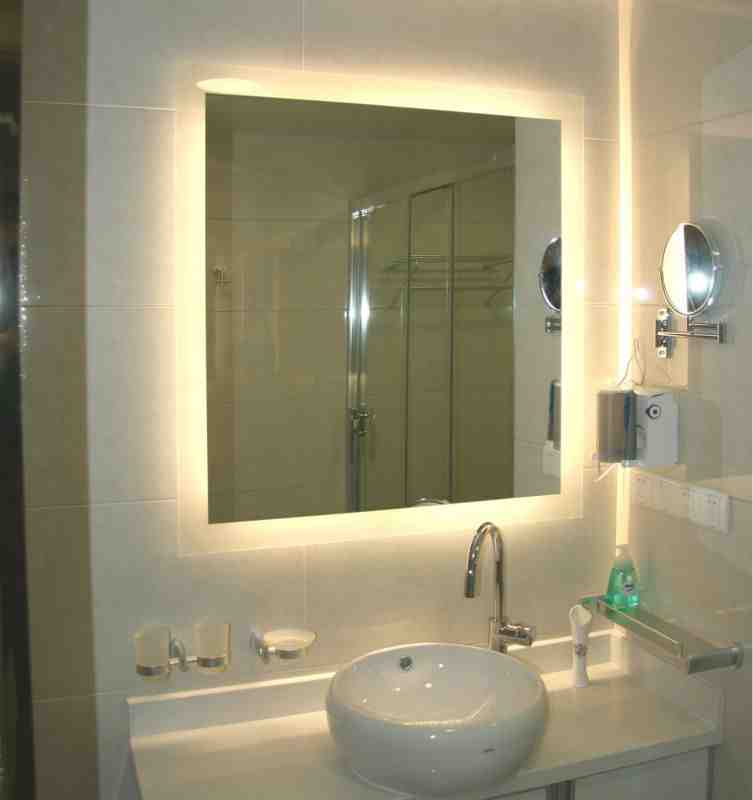 Lit Bathroom Mirror