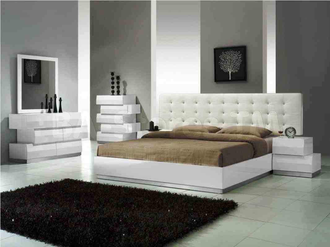 modern white bedroom furniture  decor ideas