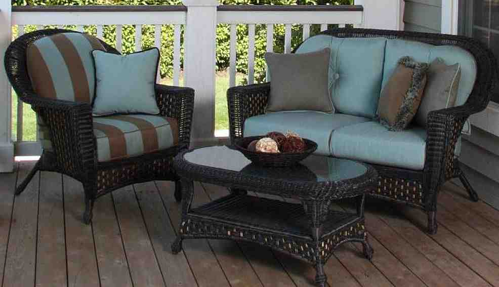 Outdoor Wicker Furniture Cushions Sets Decor Ideas