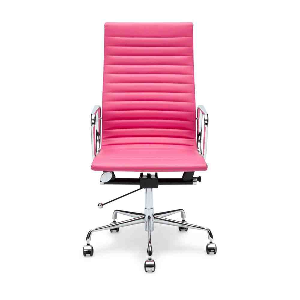 Pink Leather Office Chair
