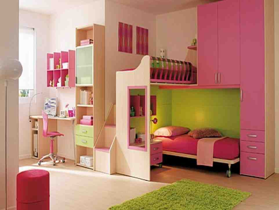 Pink and Green Girls Bedroom - Decor Ideas