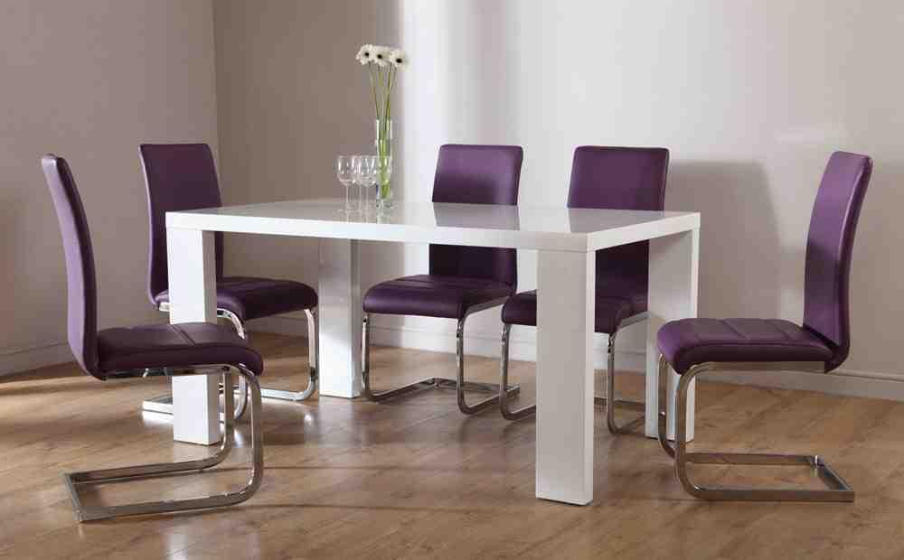 Purple Dining Room Chairs