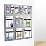 Acrylic Magazine Rack Wall Mounted