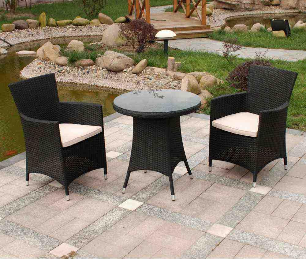Black Cheap Wicker Patio Furniture Sets
