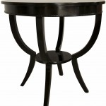 Black Round Side Table