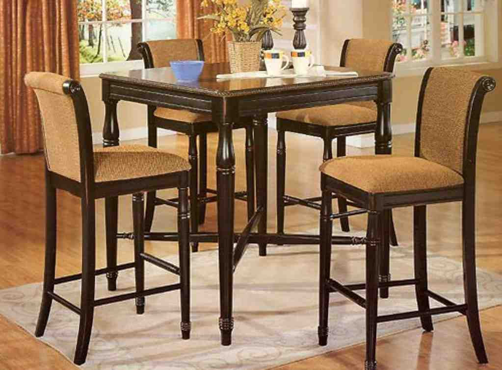 High Kitchen Table And Chairs Decor Ideas