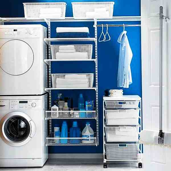 Laundry Room Storage Ideas for Small Rooms