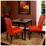 Orange Leather Dining Chair