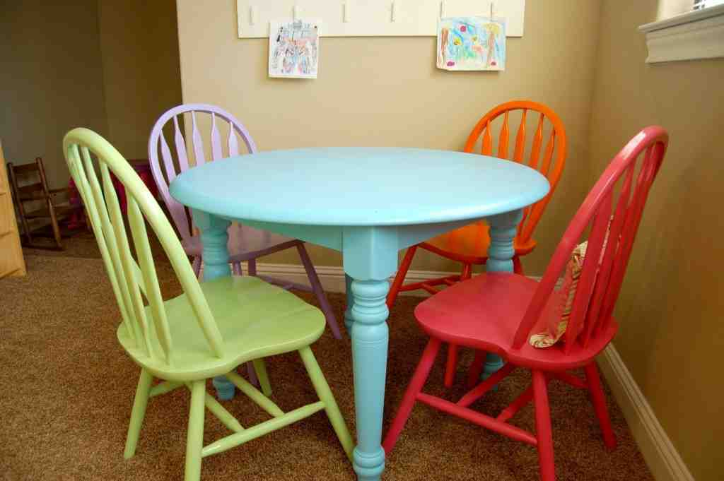 Painting Kitchen Table and Chairs