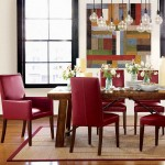 Red Leather Dining Room Chairs
