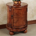 Round End Table With Storage