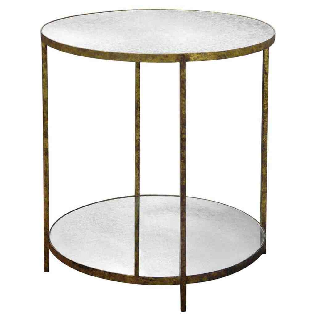 Round Glass Top End Table