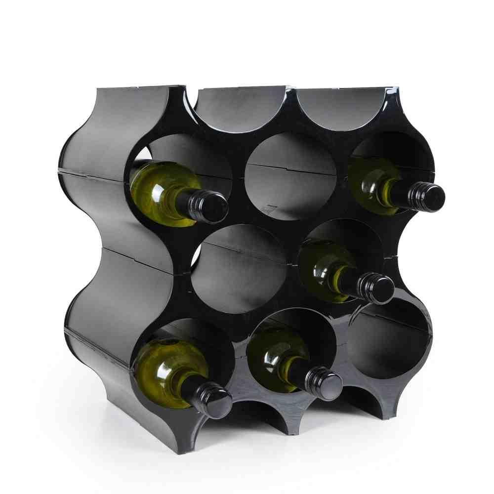Black Wall Wine Rack