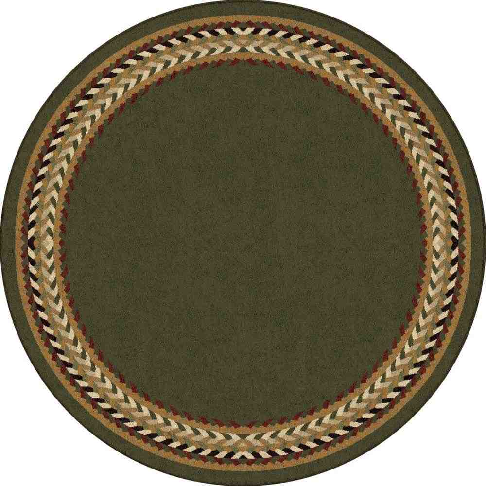 Round Braided Area Rugs