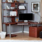 Small Corner Computer Desk With Hutch